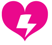 Hearts and Laserbeams Heart Logo