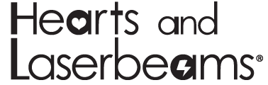 Hearts and Laserbeams logo