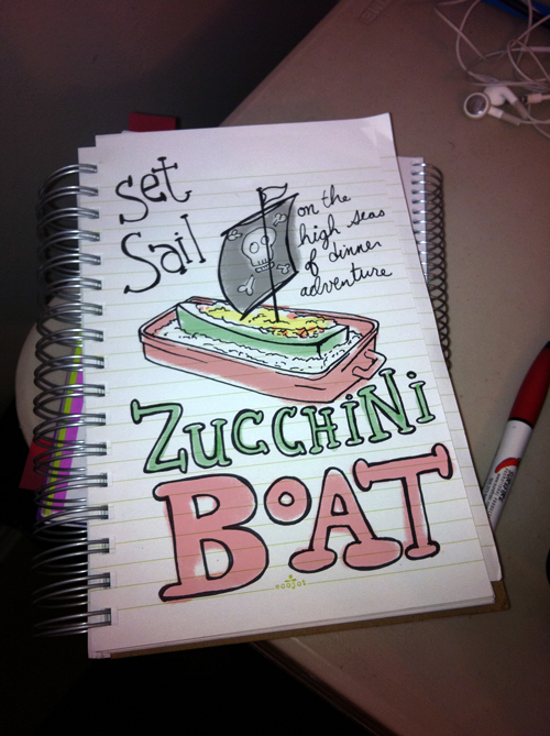Set Sail on the Zucchini Boat by Hearts and Laserbeams