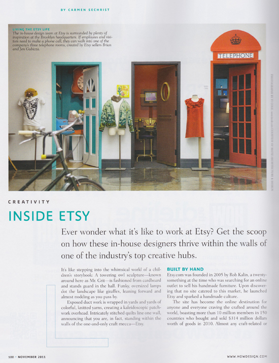 "How Magazine's ""Inside Etsy"" Article"
