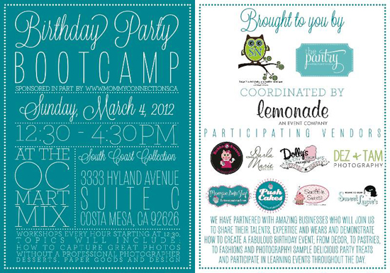Birthday Party Bootcamp in Costa Mesa