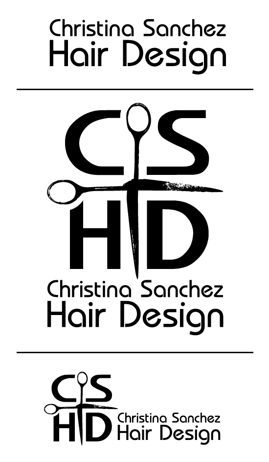 Christina Sanchez Hair Design logo by Hearts and Laserbeams