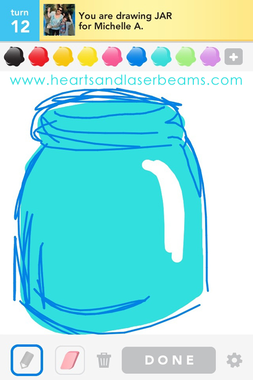 draw something canning jar by hearts and laserbeams
