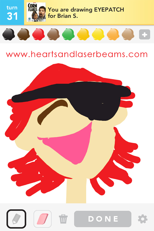 draw something eye patch by hearts and laserbeams