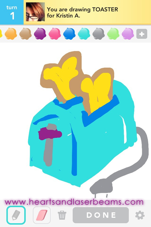 draw something toaster by hearts and laserbeams