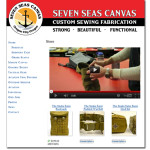 Web Site Shopping Cart for Seven Seas Canvas