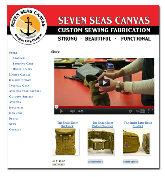 Seven Seas Canvas Shopping Cart Integration