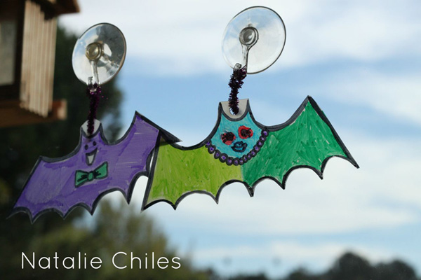 Free Halloween Printable by Hearts and Laserbeams - Milk Jug Craft by Natalie Chiles