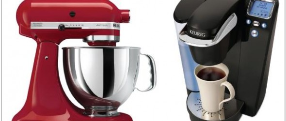 Win a Kitchenaid mixer or a Keurig coffee maker!